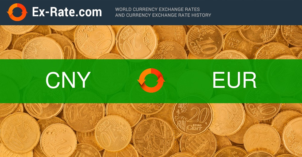 How much is 100 renminbi ¥ (CNY) to € (EUR) according to the foreign exchange rate for today