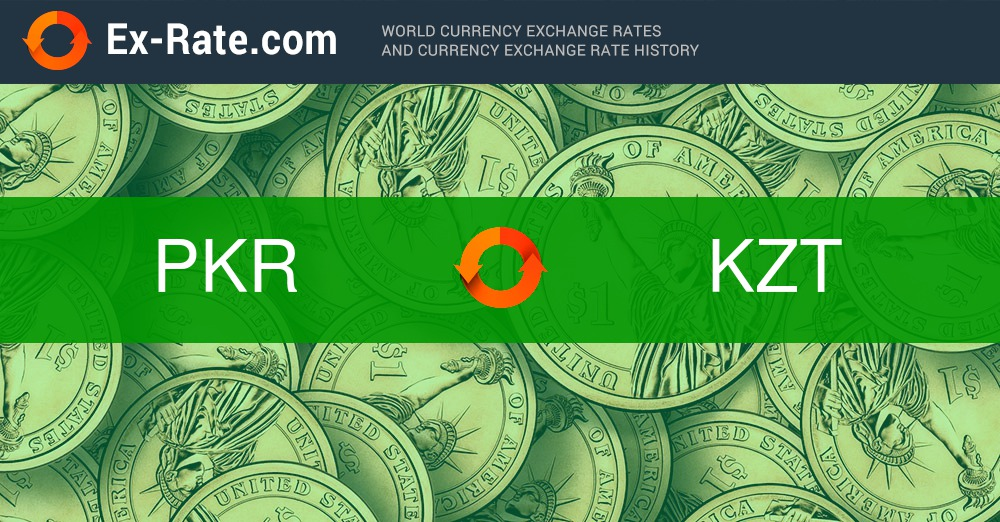 How much is 1 rupee Rs (PKR) to T (KZT) according to the