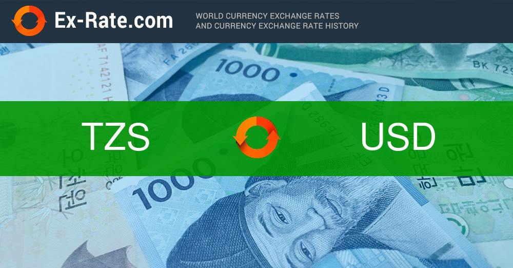 How Much Is 20000 Shillings Tzs To Usd According The Foreign Exchange Rate For Today