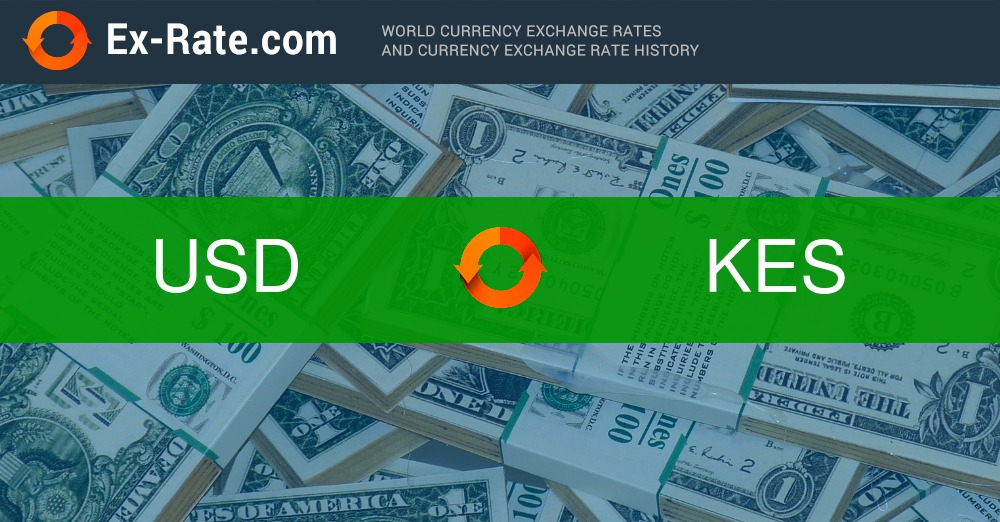 How much is 100 dollars $ (USD) to KSh (KES) according to